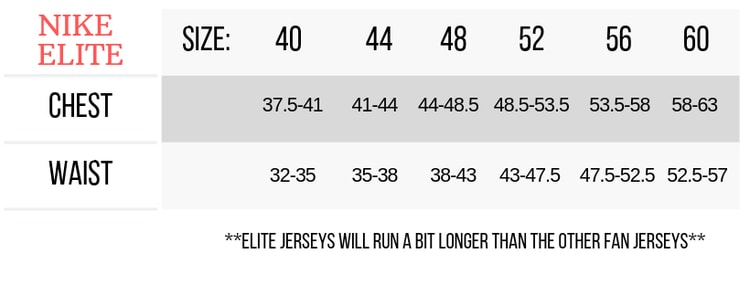 mens nfl jersey sizes