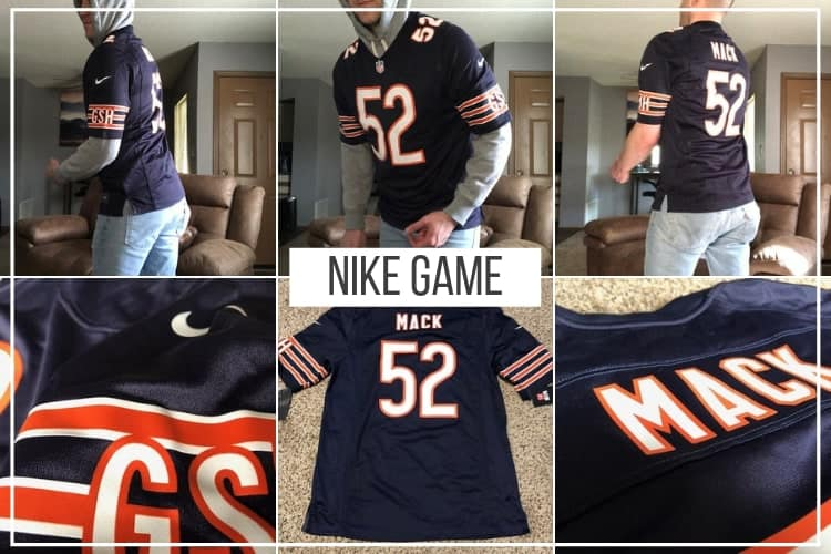 buy popular 3e474 df21a NFL Nike Game Jersey Review 2019 (How Mine Fit with Pictures ...