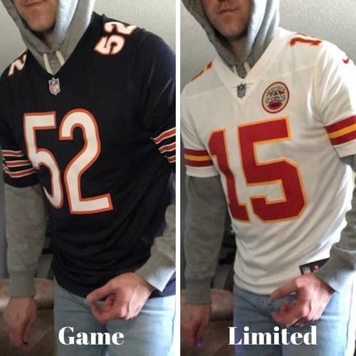 difference between elite limited and game jerseys