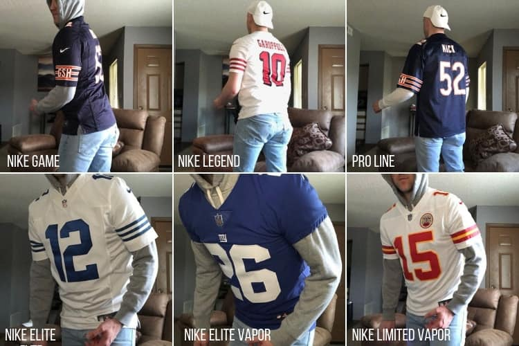 Types of NFL Fan Jerseys 2020 (with