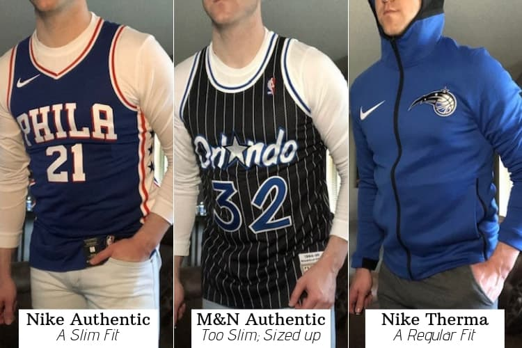 nike authentic jersey sizing
